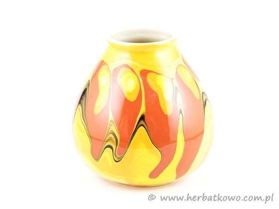 Tykwa ceramiczna Fantazja XXXXIV do parzenia yerba mate