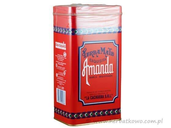 Yerba Mate Amanda 0,5 kg w czerwonej puszce