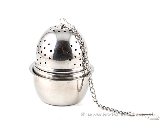 Zaparzacz metalowy Jajko